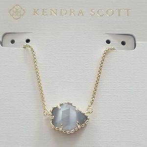 Kendra Scott Tessa necklace with slate blue stone